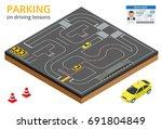 trained in driving school... | Shutterstock .eps vector #691804849