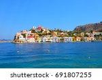 kastellorizo  megisti meis  ... | Shutterstock . vector #691807255