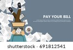 bill payment design in flat