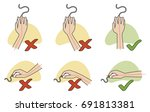 visual guide for mouse... | Shutterstock .eps vector #691813381
