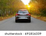 the car on the nature near... | Shutterstock . vector #691816339
