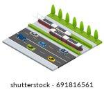 vector isometric icon city... | Shutterstock .eps vector #691816561
