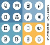 vector illustration set of... | Shutterstock .eps vector #691818091