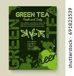 green tea poster or banner... | Shutterstock .eps vector #691823539