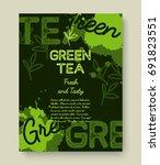 green tea poster or banner... | Shutterstock .eps vector #691823551