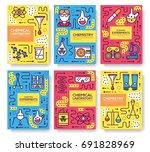 biohazard chemists thin line...   Shutterstock .eps vector #691828969