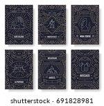 chile vector brochure cards... | Shutterstock .eps vector #691828981