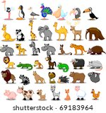 extra large set of animals... | Shutterstock .eps vector #69183964