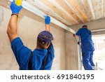 garage doors installation....   Shutterstock . vector #691840195