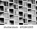 design details of modern and... | Shutterstock . vector #691841005