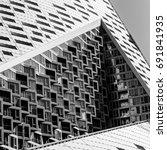 design details of modern and... | Shutterstock . vector #691841935