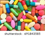 colorful drugs background