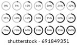 set of circle percentage... | Shutterstock .eps vector #691849351