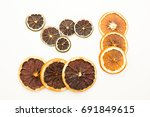 pile of dried citrus circles... | Shutterstock . vector #691849615