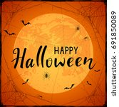 abstract halloween background... | Shutterstock .eps vector #691850089