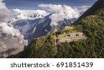 choquequirao is an incan site... | Shutterstock . vector #691851439