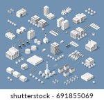 set of modern isometric...   Shutterstock .eps vector #691855069