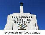 los angeles  ca usa  march 19 ... | Shutterstock . vector #691863829