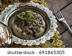 traditional islamic feast ... | Shutterstock . vector #691865305