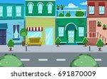 Vector Cartoon Side Street...