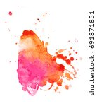 colorful abstract watercolor... | Shutterstock .eps vector #691871851