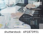 business accountant with... | Shutterstock . vector #691873951
