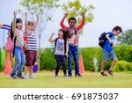 kids preschool kindergarten... | Shutterstock . vector #691875037