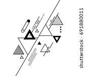 abstract modern geometric... | Shutterstock .eps vector #691880011