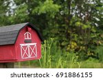 Red Barn Painted Decorative...