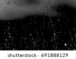 Raindrops On Black Glass