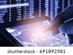 double exposure businessman and ... | Shutterstock . vector #691892581