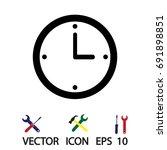 clock icon vector best flat... | Shutterstock .eps vector #691898851