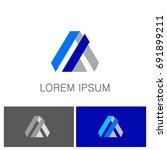 shape triangle business logo   Shutterstock .eps vector #691899211
