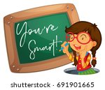 word expression for you're... | Shutterstock .eps vector #691901665