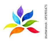 7 color of chakra symbol... | Shutterstock . vector #691901671