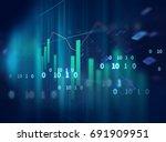 financial graph on technology... | Shutterstock . vector #691909951
