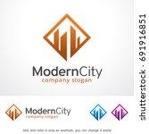 modern city logo template... | Shutterstock .eps vector #691916851