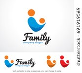 family logo template design... | Shutterstock .eps vector #691919569