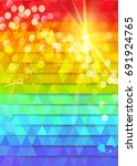 colorful abstract background.... | Shutterstock .eps vector #691924765