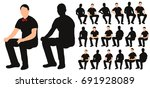isolated silhouette of man... | Shutterstock . vector #691928089