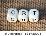 cbt word made from toy cubes...   Shutterstock . vector #691930075