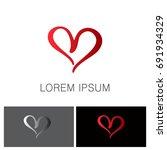 love valentine logo   Shutterstock .eps vector #691934329