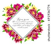 invitation with floral... | Shutterstock .eps vector #691936774