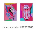 colorful international jazz... | Shutterstock .eps vector #691939105