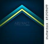 blue triangle line vector... | Shutterstock .eps vector #691939699