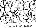 ink  texture. vector hand drawn ... | Shutterstock .eps vector #691941865