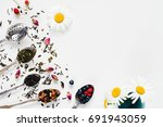 variety of dried tea  dried...   Shutterstock . vector #691943059
