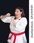 karate girl | Shutterstock . vector #69194959