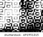 grunge halftone black and white.... | Shutterstock . vector #691951315