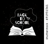 back to school banner with open ... | Shutterstock .eps vector #691951561